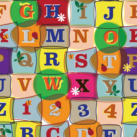 alphabet fabric by sary on Spoonflower - custom fabric