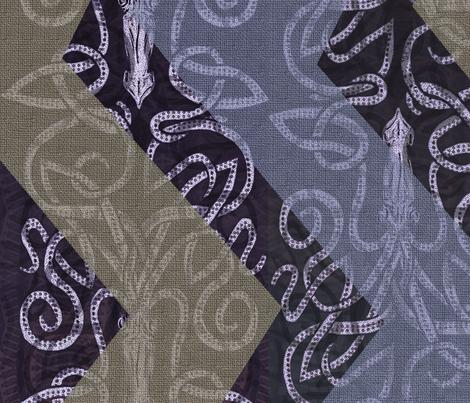 Giant Chevron Squid fabric by wren_leyland on Spoonflower - custom fabric