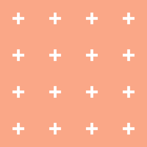 Peach Cross // Peach Plus  fabric by pencilmein on Spoonflower - custom fabric