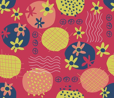 Motifs a la Matisse fabric by snowflower on Spoonflower - custom fabric