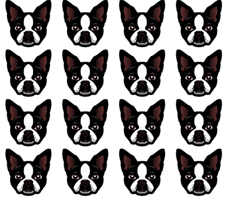 BOSTON TERRIER fabric by bluevelvet on Spoonflower - custom fabric