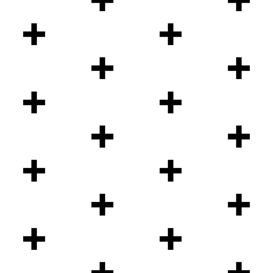 black cross on white fabric - pencilmein - Spoonflower