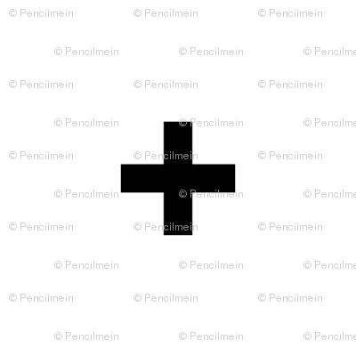 black cross on white