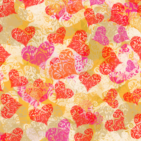 valentine-lace-hearts fabric by wren_leyland on Spoonflower - custom fabric
