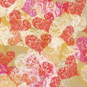 Valentine lace hearts