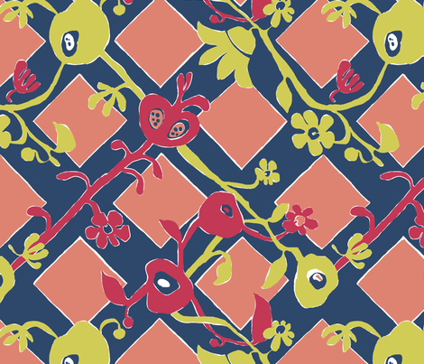 Matisse Floral fabric by amordenti on Spoonflower - custom fabric
