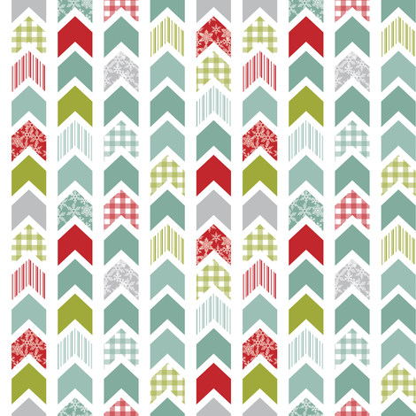 Christmas chevrons fabric by ebygomm on Spoonflower - custom fabric