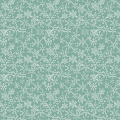 Snowflakes blue fabric by ebygomm on Spoonflower - custom fabric