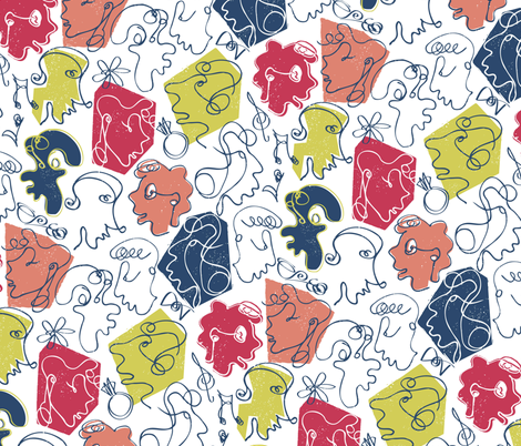 'Conversations' inspired by Matisse's Pasiphae fabric by licoricelove on Spoonflower - custom fabric