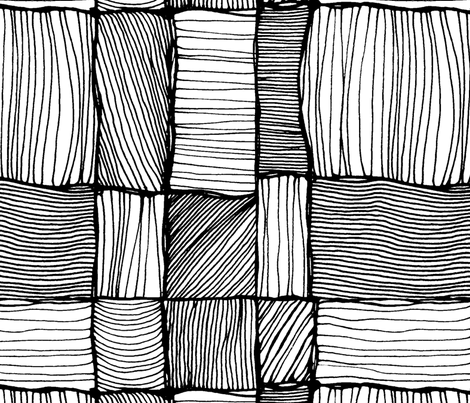 Threads 2. Black and white.  fabric by lena_sokol on Spoonflower - custom fabric