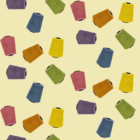 Yarn Cones - daffodil (medium) fabric by pixelknit on Spoonflower - custom fabric