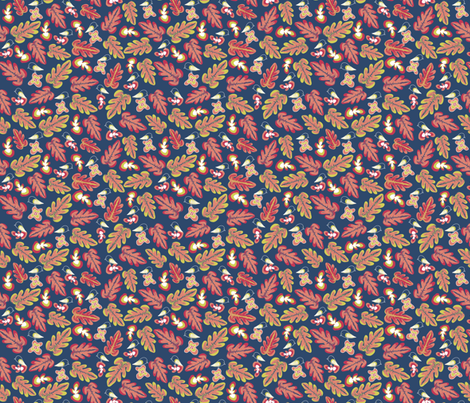 Black Robin on an Autumns Day - Matisse Inspired fabric by madex on Spoonflower - custom fabric