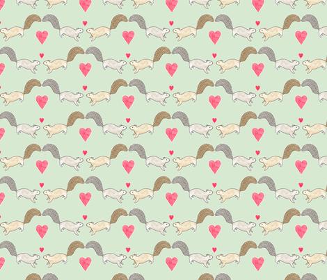 Squirrel Love fabric by siankeegan on Spoonflower - custom fabric
