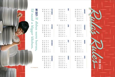 Rula's Rules #307 calendar towel fabric by monmeehan on Spoonflower - custom fabric