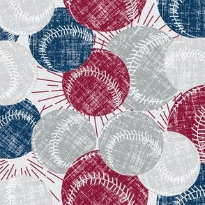 Baseballs - Deep, Red Navy