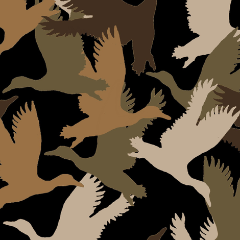 Flying Duck Camo fabric by paragonstudios on Spoonflower - custom fabric