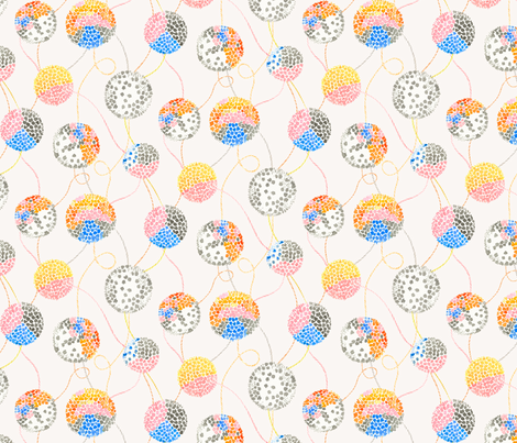 Pom Poms fabric by siankeegan on Spoonflower - custom fabric