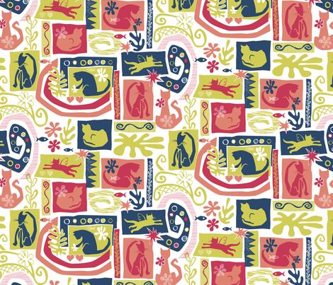 Catisse fabric by jennartdesigns on Spoonflower - custom fabric