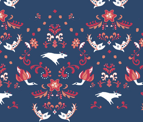 the wild beasts fabric by mklmklmkl on Spoonflower - custom fabric