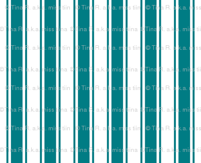 ticking stripes dark teal