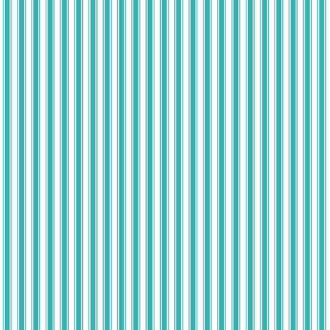 ticking stripes teal fabric by misstiina on Spoonflower - custom fabric