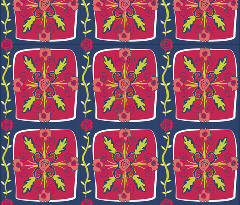 Flowers for Matisse fabric by susanm45 on Spoonflower - custom fabric