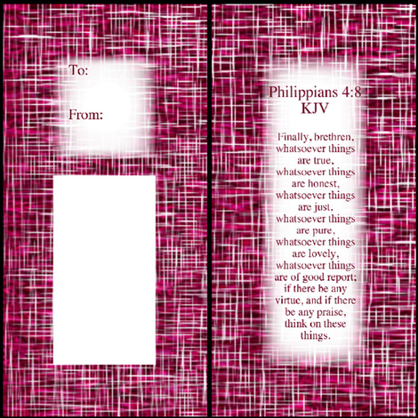 Gift_Tag_Intense_Pink fabric by pd_frasure on Spoonflower - custom fabric