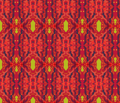 Matisse Orient Red Gold fabric by eve3 on Spoonflower - custom fabric