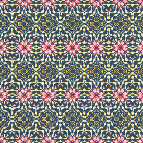 a floral tapestry fabric by kerryn on Spoonflower - custom fabric