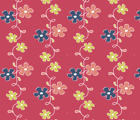 matisse flower vine fabric by hienmade on Spoonflower - custom fabric