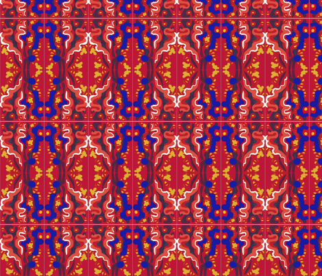 Matisse Orient Tile Blue fabric by eve3 on Spoonflower - custom fabric
