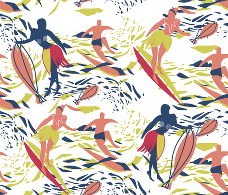 Matisse Surfers fabric by chickoteria on Spoonflower - custom fabric