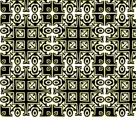 Matisse Style - Black with Green fabric by glanoramay on Spoonflower - custom fabric