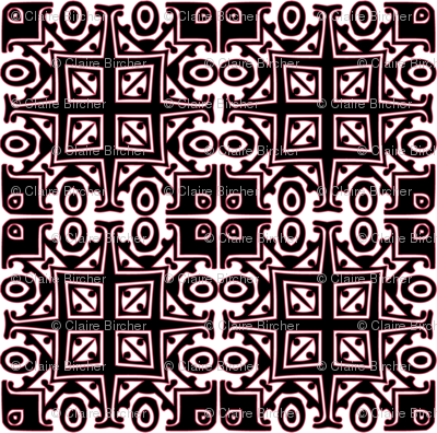 Matisse Style - Black with Pink
