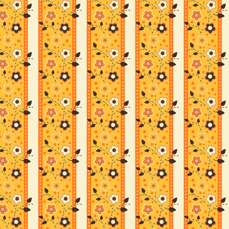 Yellow Vining Flowers fabric by eppiepeppercorn on Spoonflower - custom fabric