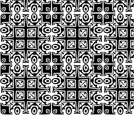 Matisse Style - Monochrome fabric by glanoramay on Spoonflower - custom fabric