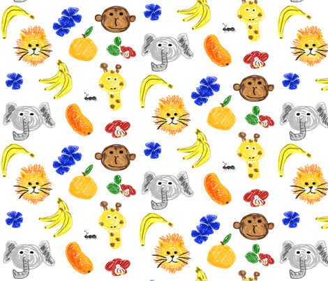 In the wild fabric by larsdotter on Spoonflower - custom fabric