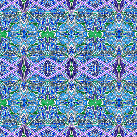 Flying Blue Wings Things fabric by edsel2084 on Spoonflower - custom fabric