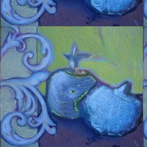 The blue pomegranates