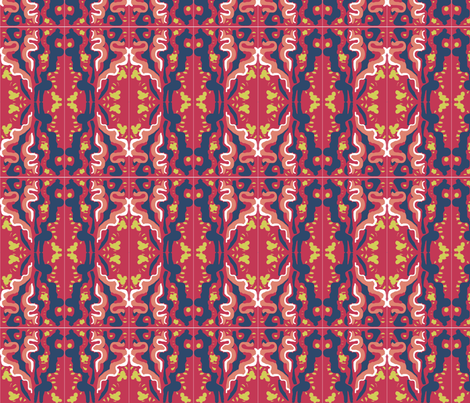 Matisse Orient Tile Five fabric by eve3 on Spoonflower - custom fabric