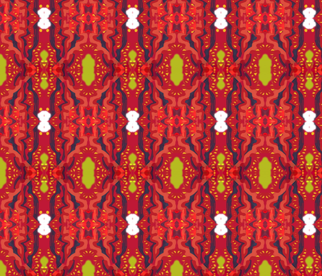Matisse Orient Red Gold Accent fabric by eve3 on Spoonflower - custom fabric