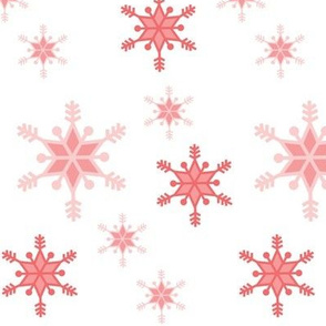 snowflakes - corals on white