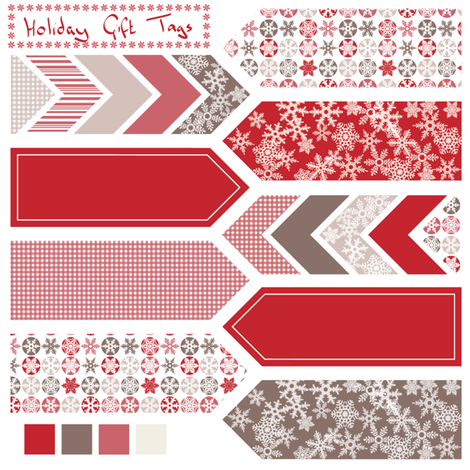 Holiday gift tags fabric by ebygomm on Spoonflower - custom fabric