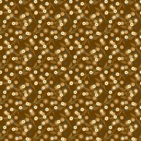 Petite ditsy brown fabric by joanmclemore on Spoonflower - custom fabric