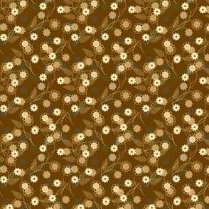 Petite ditsy brown