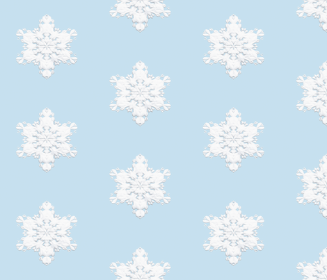 White Snowflake 1 fabric by animotaxis on Spoonflower - custom fabric