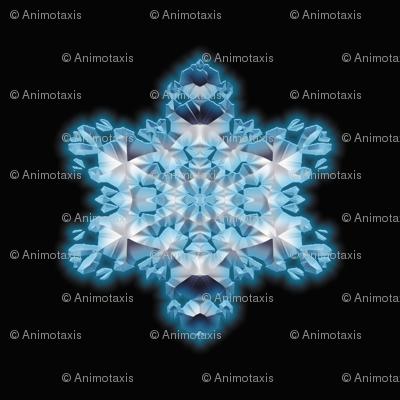 Blue Flame Snowflake 1