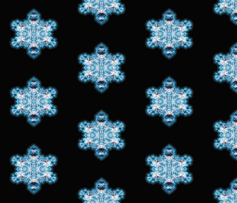 Blue Flame Snowflake 1 fabric by animotaxis on Spoonflower - custom fabric