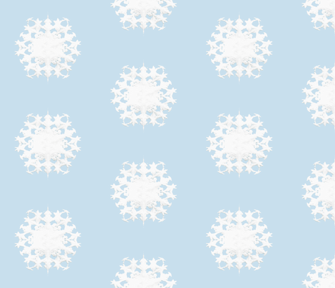 White Snowflake 2 fabric by animotaxis on Spoonflower - custom fabric