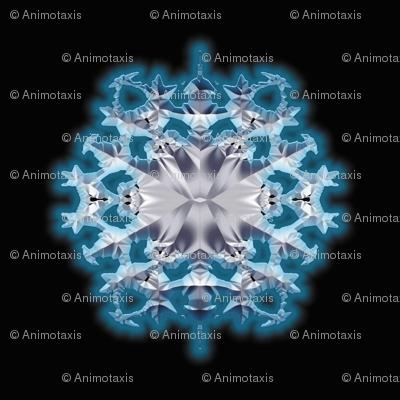 Blue Flame Snowflake 2
